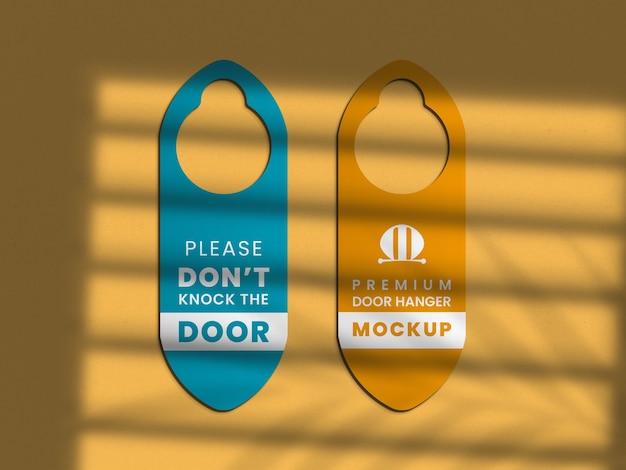 Крупным планом на макете дверной вешалки