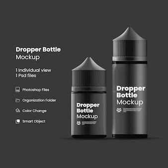 Крупным планом на изолированном макете бутылки капельницы