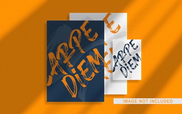 Крупным планом на элегантный макет брошюры разного размера