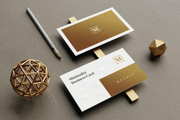 Макет элегантной визитки крупным планом