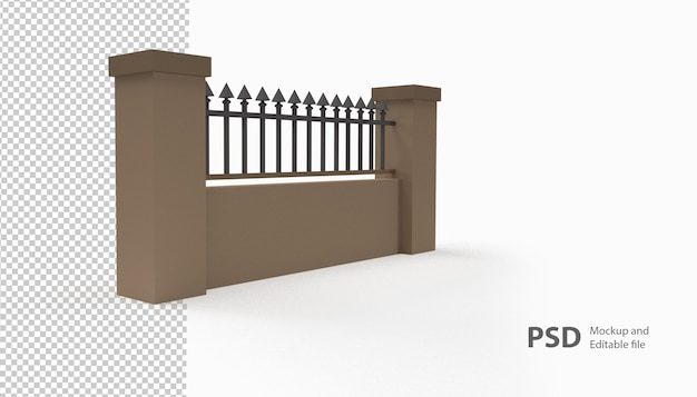 Крупным планом на заборе изолированные