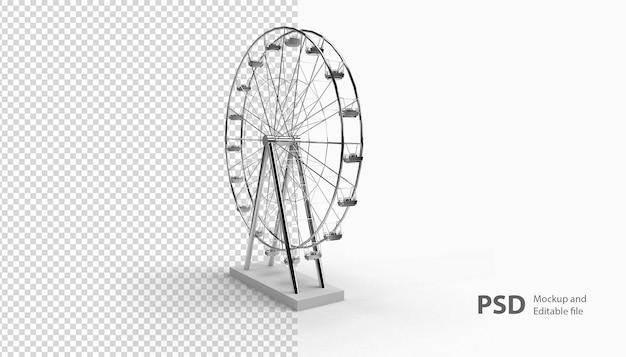 Крупным планом на колесо обозрения, изолированные в 3d-рендеринге
