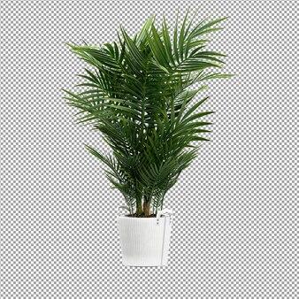 Крупным планом на цветок в вазе 3d-рендеринга
