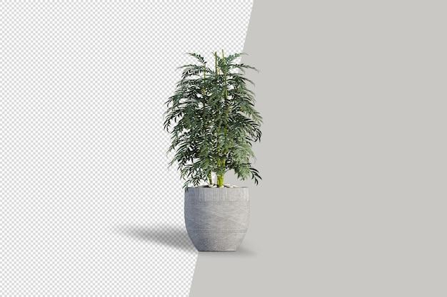ポットインテリア3dレンダリングで花をクローズアップ