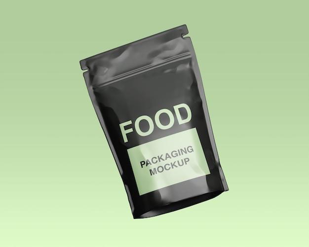 Крупным планом на изолированном макете упаковки пищевых продуктов