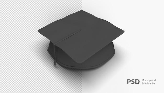 孤立した卒業帽子にクローズアップ