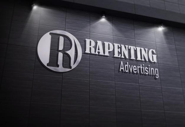 Крупным планом на серый дизайн логотипа компании
