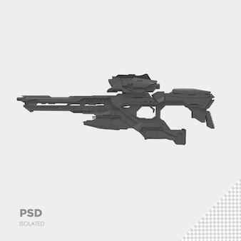 銃で隔離されたプレミアムpsdにクローズアップ