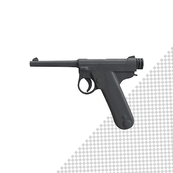 고립 된 총에 가까이