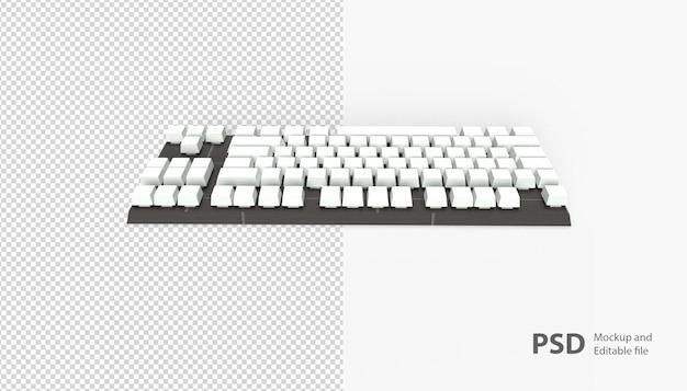 Крупным планом на клавиатуре изолированные