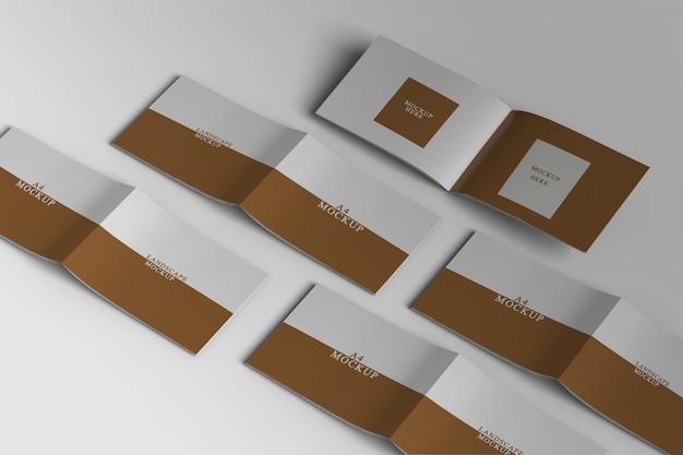 Крупным планом на макете пейзажной брошюры