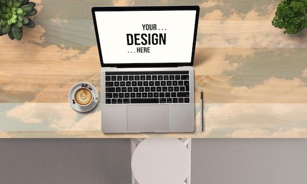 노트북 모형 디자인에 가까이