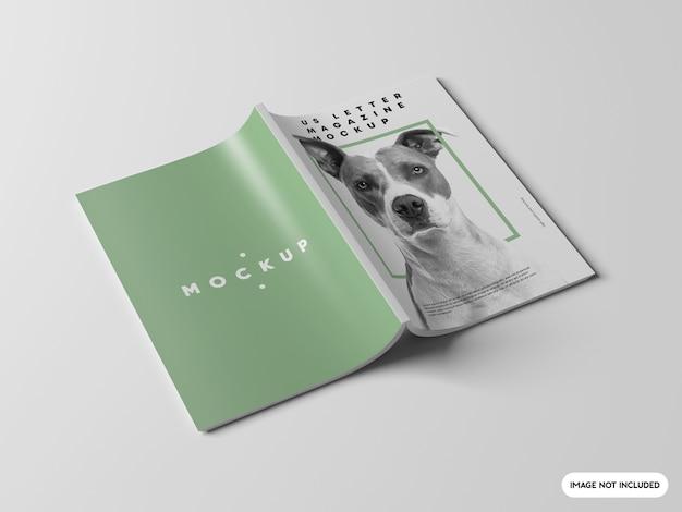 雑誌のモックアップをクローズアップ Premium Psd