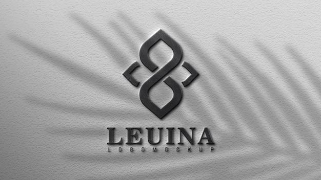 Крупным планом на дизайн макета логотипа на стене