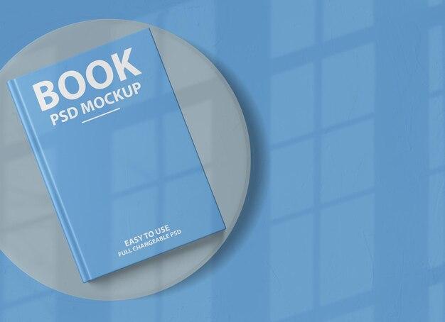 Крупным планом на рендеринге макета обложки роскошной твердой книги