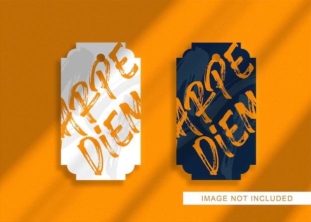 Крупным планом на роскошном макете логотипа