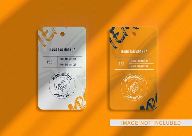 Крупным планом на роскошный макет логотипа lebel tag