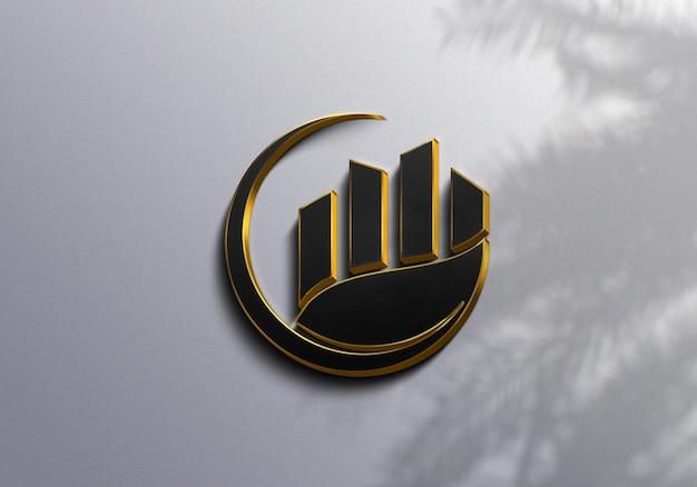 Макет роскошного логотипа крупным планом