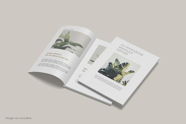 Изолированный макет обложки журнала