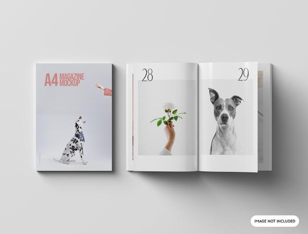 Крупным планом на макете журнала