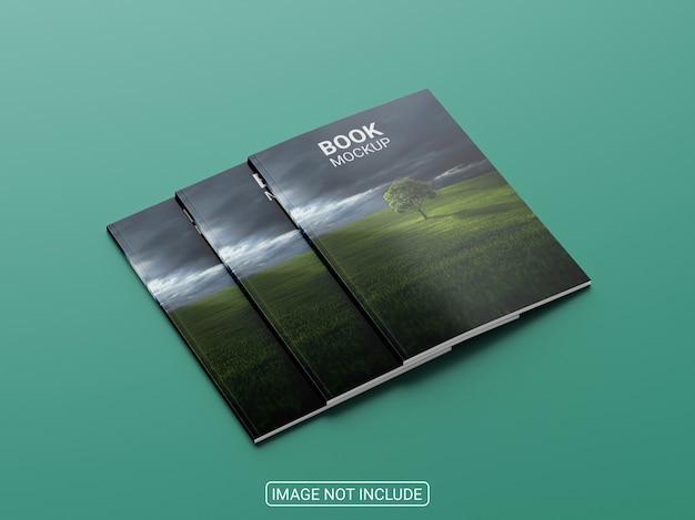 雑誌やパンフレットのモックアップをクローズアップ