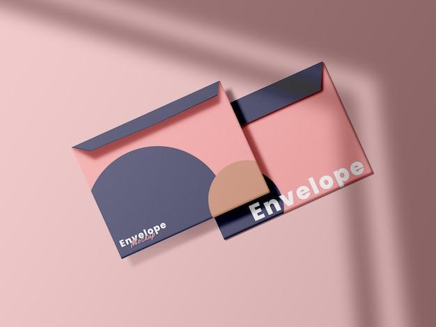 Крупным планом минималистский дизайн макета конверта