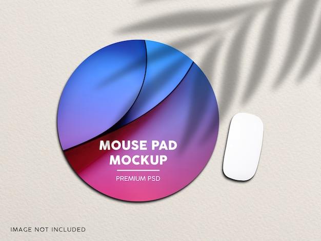 マウスパッドのモックアップをクローズアップ