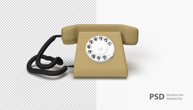 고립 된 오래 된 전화에 가까이