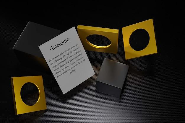 Крупным планом на макете страницы с элементами дизайна