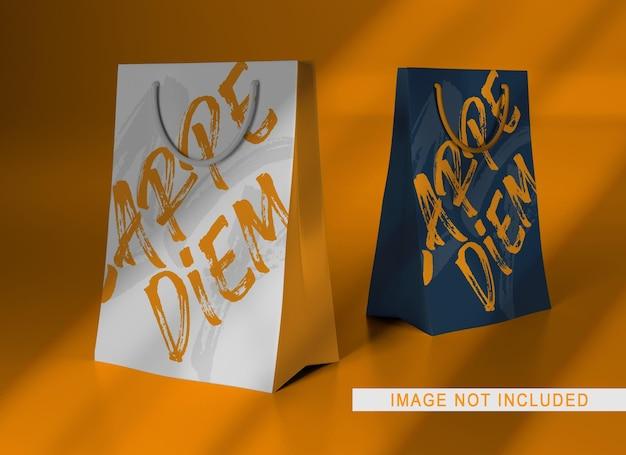 Макет бумажного пакета крупным планом