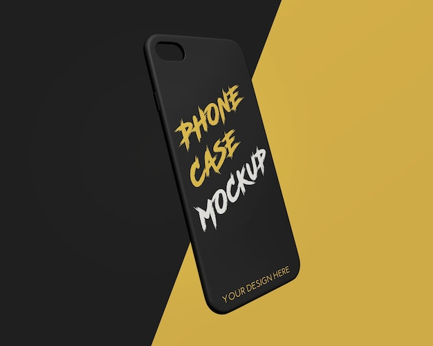 Макет мобильного телефона крупным планом