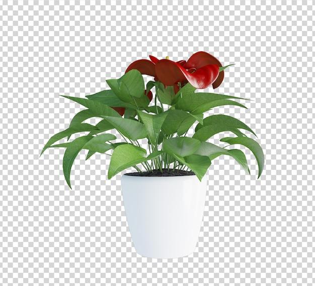 植物の3 dレンダリングにクローズアップ