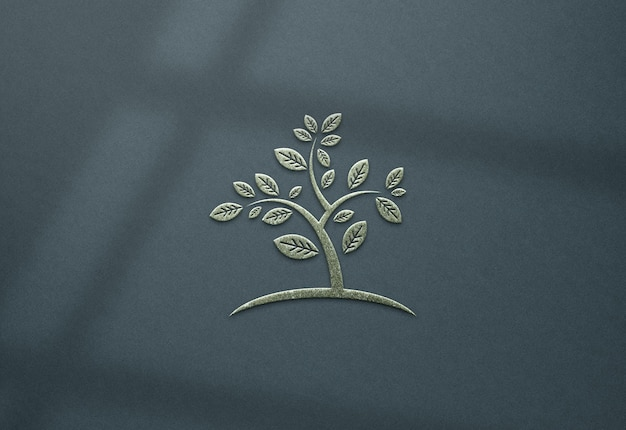 Крупным планом реалистичный дизайн макета логотипа