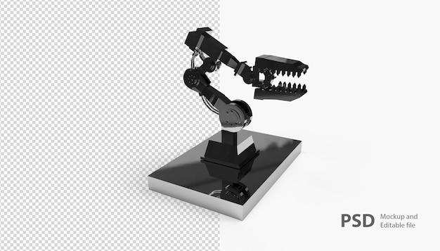 Крупным планом на роботизированной машине изолированы