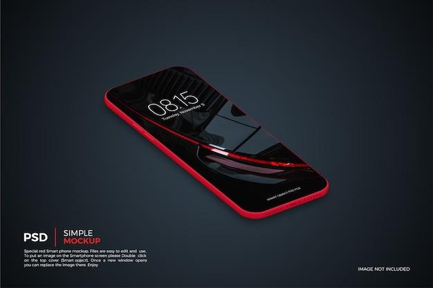 分離されたシンプルなスマートフォンのモックアップにクローズアップ