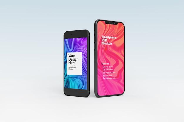 Крупным планом на изолированном макете смартфона