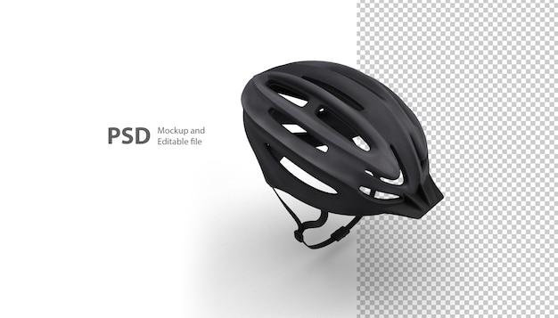 3dレンダリングで分離されたスポーツヘルメットのクローズアップ