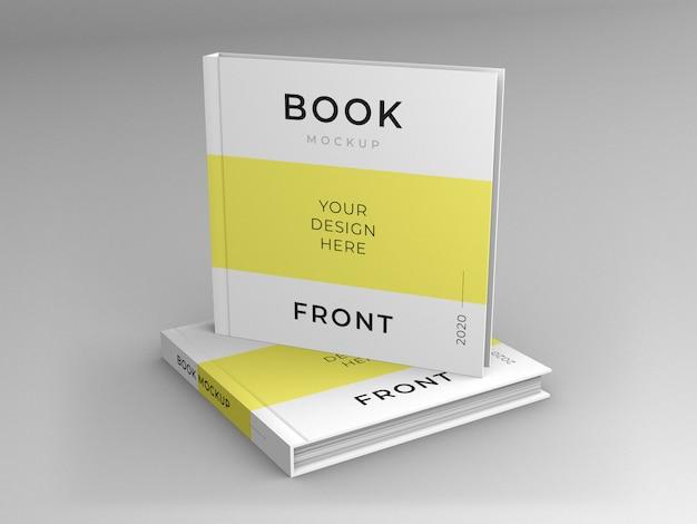 정사각형 책 표지 모형에 가까이