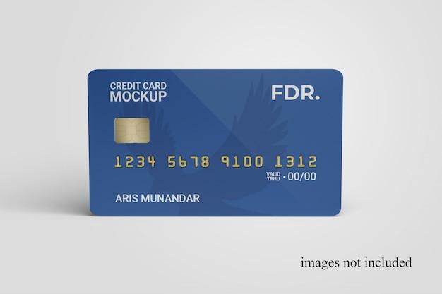 스탠딩 신용 카드 모형에 가까이
