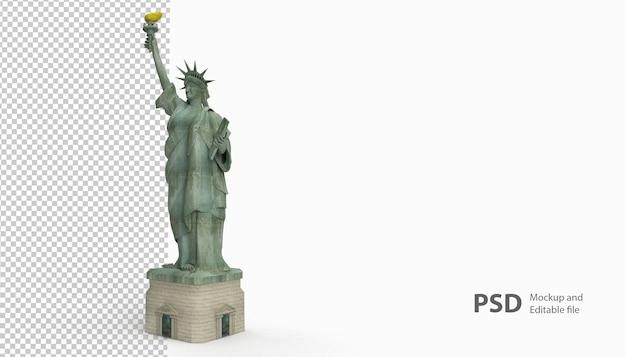 Крупным планом на статую свободы изолированные