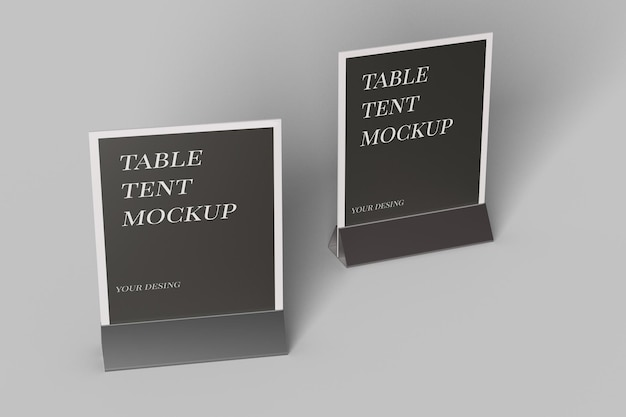Крупным планом на столе дизайн макета палатки изолированные