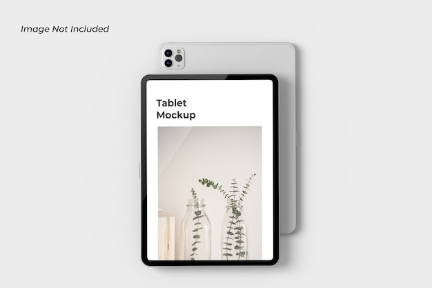 Крупным планом на изолированном макете планшетного устройства