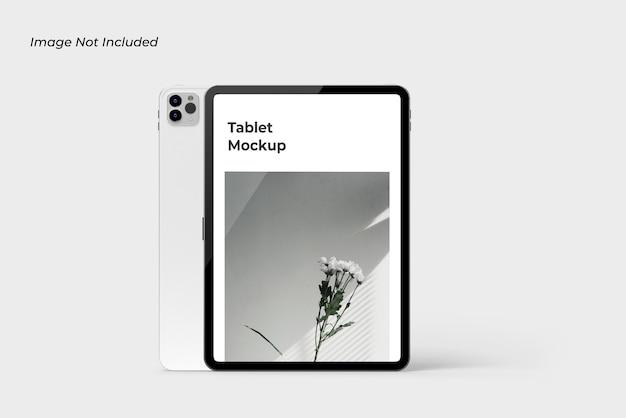 고립 된 태블릿 장치 모형에 닫기