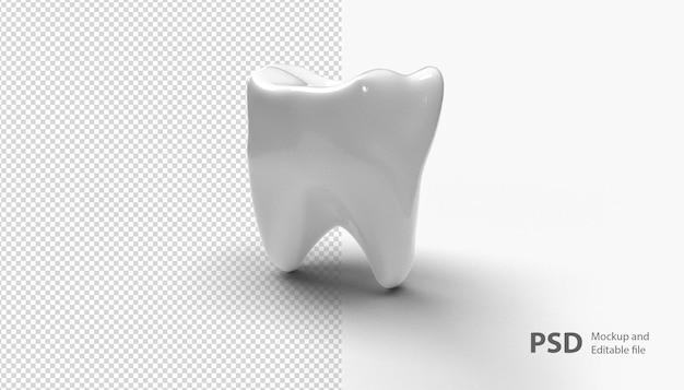 고립 된 치아에 가까이