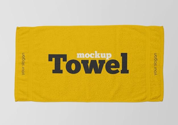 Крупным планом на полотенце мокап изолированные