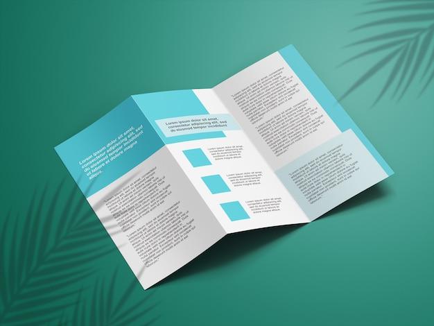 Макет брошюры крупным планом