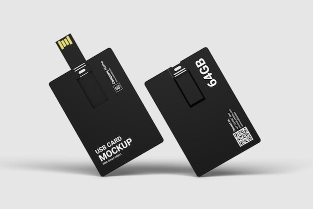 Крупным планом на изолированном макете usb-карты Premium Psd