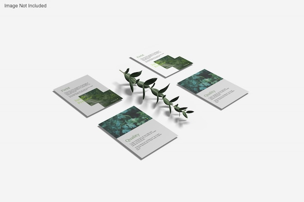 Крупным планом на различные макеты листовок