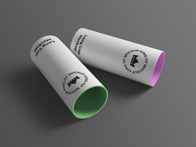 Крупным планом на различных изолированных макет большой чашки