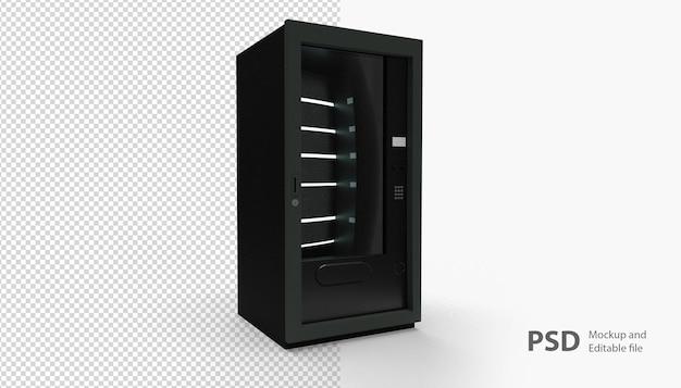 Крупным планом на изолированном автомате Premium Psd